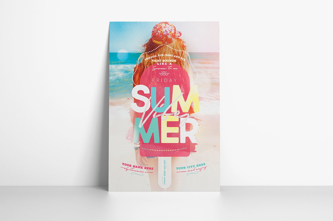 Summer Vibes Flyer Template example image 2