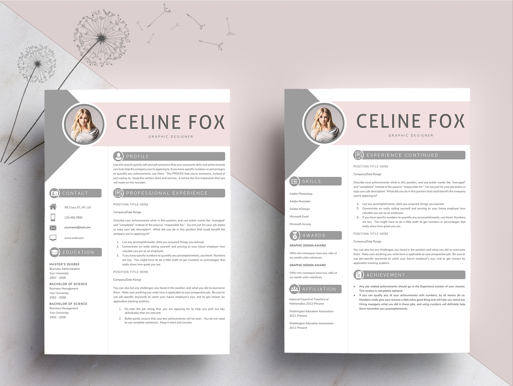Professional Word Resume Template CV example image 5