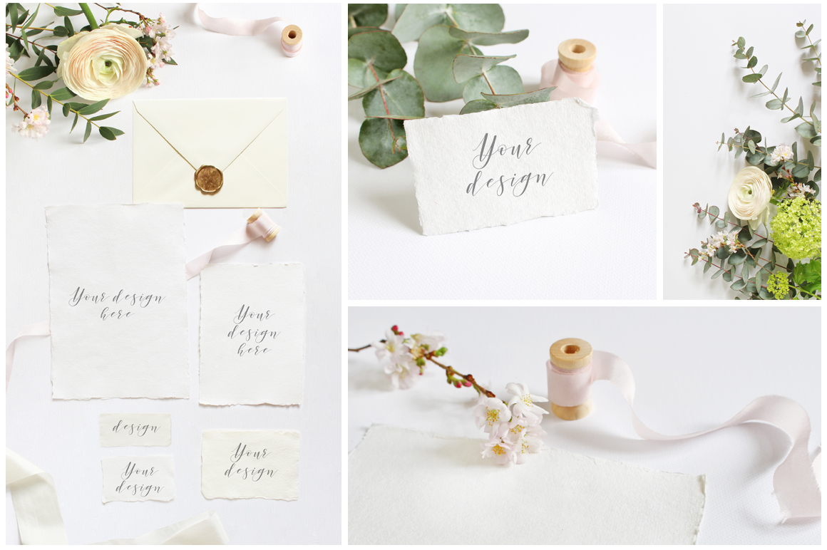Spring Wedding mockups  & stock photo bundle example image 3