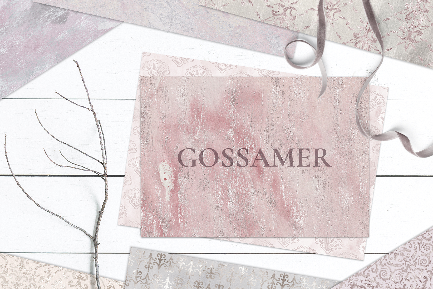 20 Seamless Shabby Chic Digital Papers example image 4