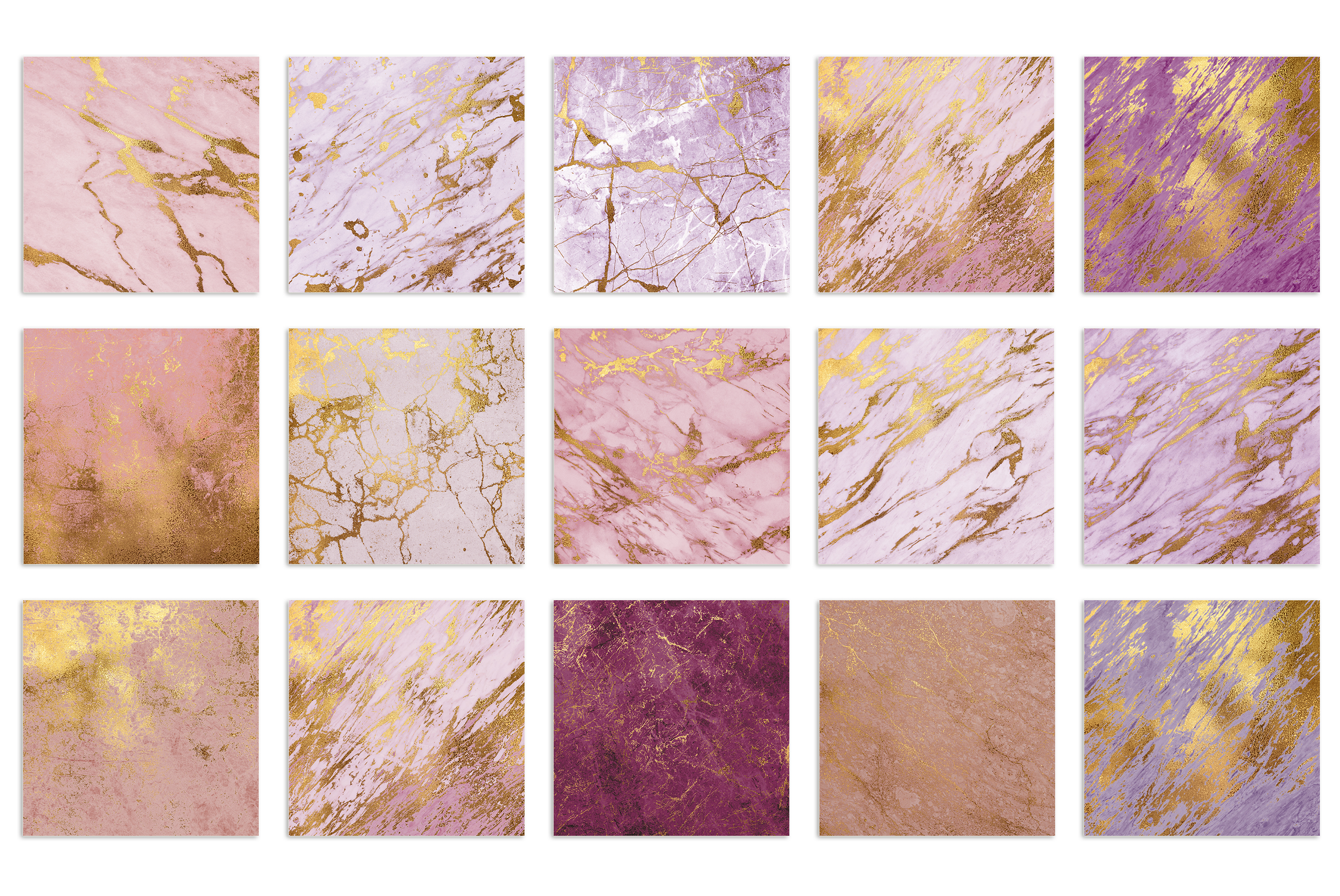 Rose Gold Marble Textures example image 3