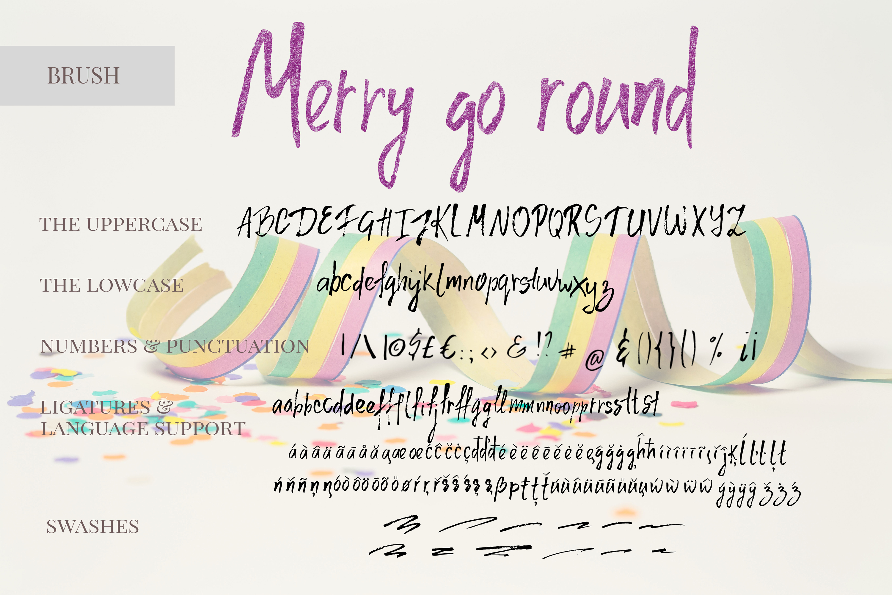 Merry go round Font Duo plus Extra swashes example image 3