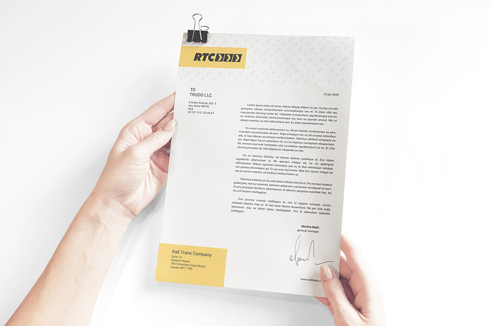 A4 Paper / Business Letter / Letterhead Mockup example image 3