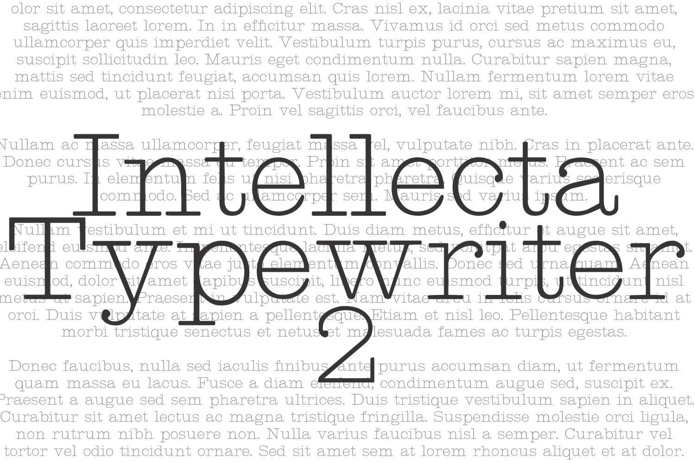 Intellecta Typewriter 2 (plus two bonus fonts !!!) example image 2