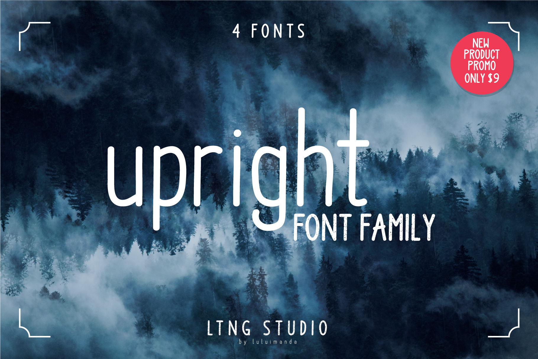 Upright Font Family example image 1