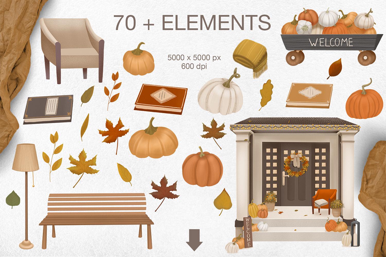 Cozy autumn clipart example image 8