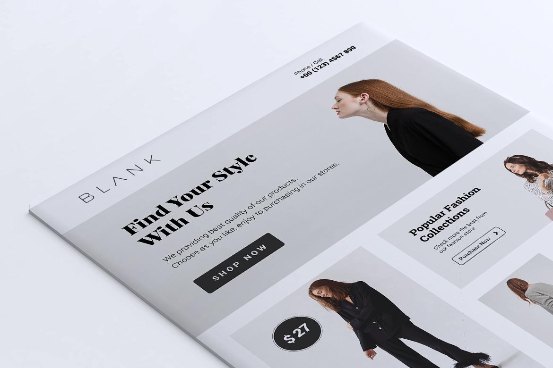 BALNK Minimal Fashion Flyer example image 4