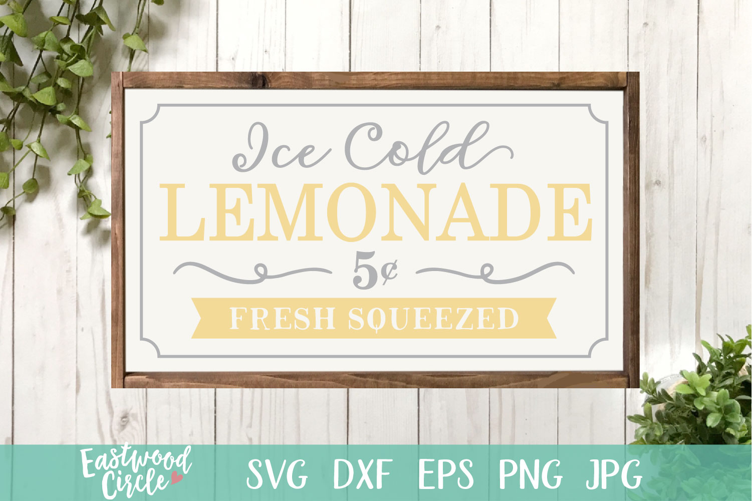 Ice Cold Lemonade - A Summer SVG File for Signs example image 1
