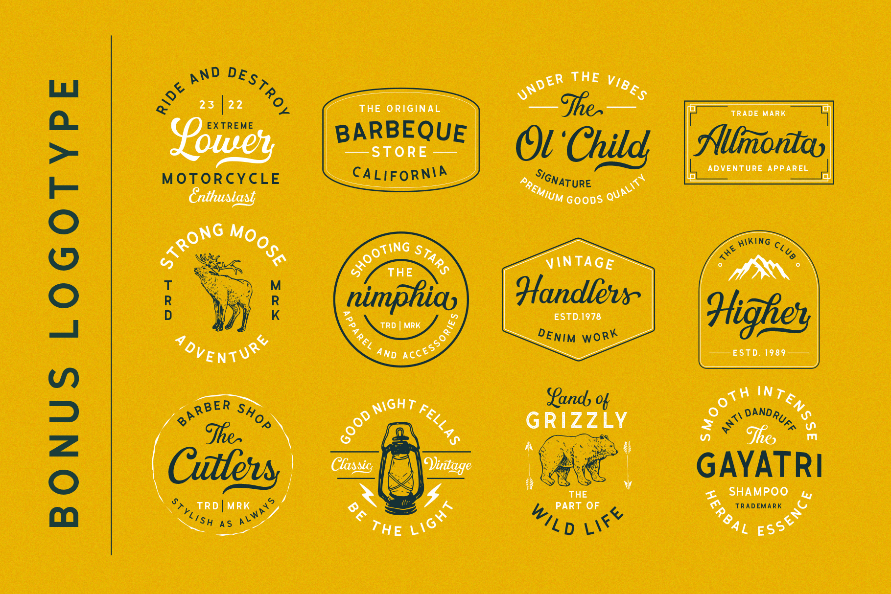 Greatly Font Duo & Logo Templates example image 3