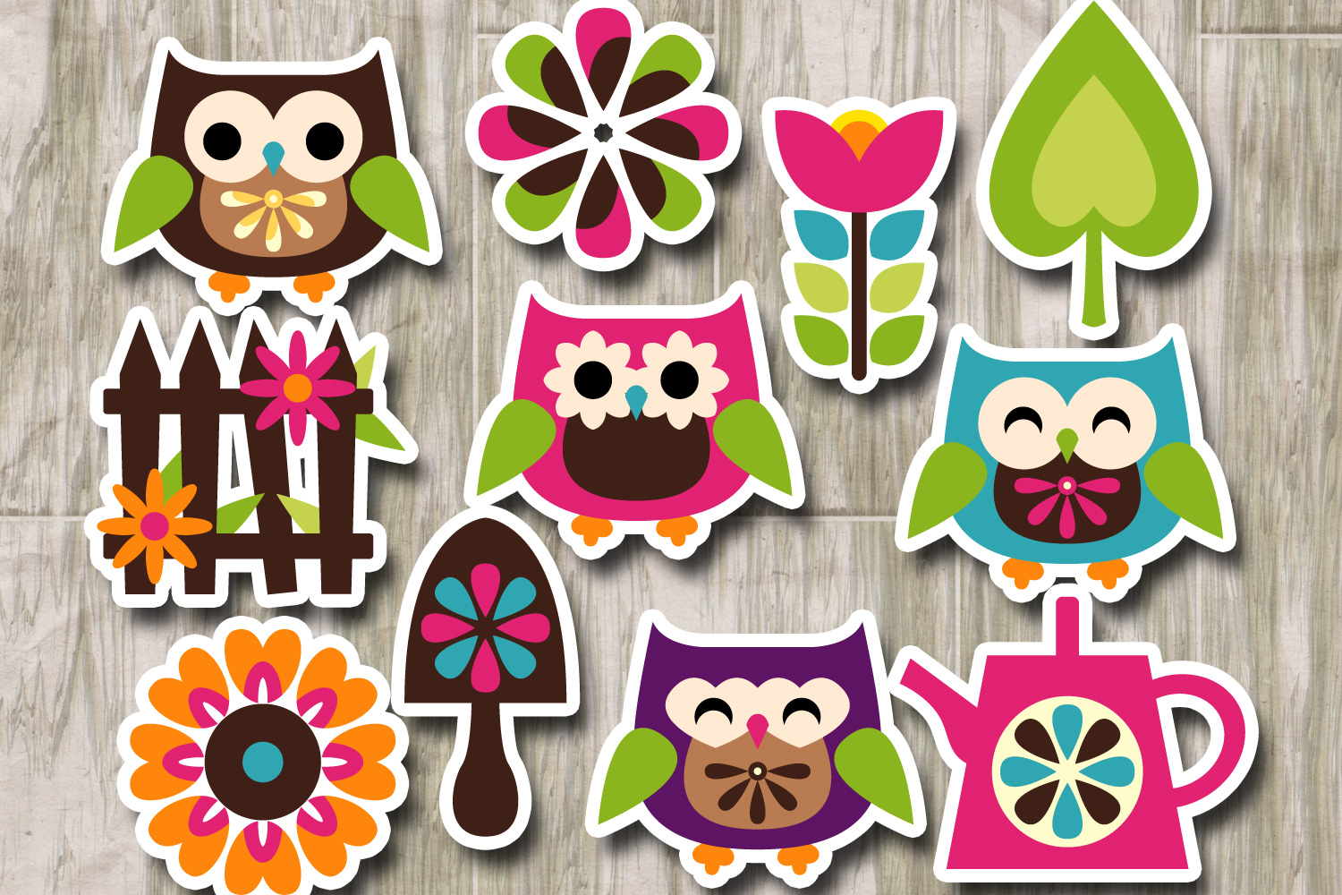 Owl spring garden graphics example image 2