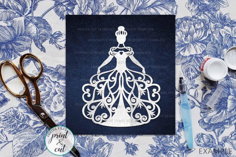 Wedding Princess Bride Bundle cut out svg dxf templates example image 6