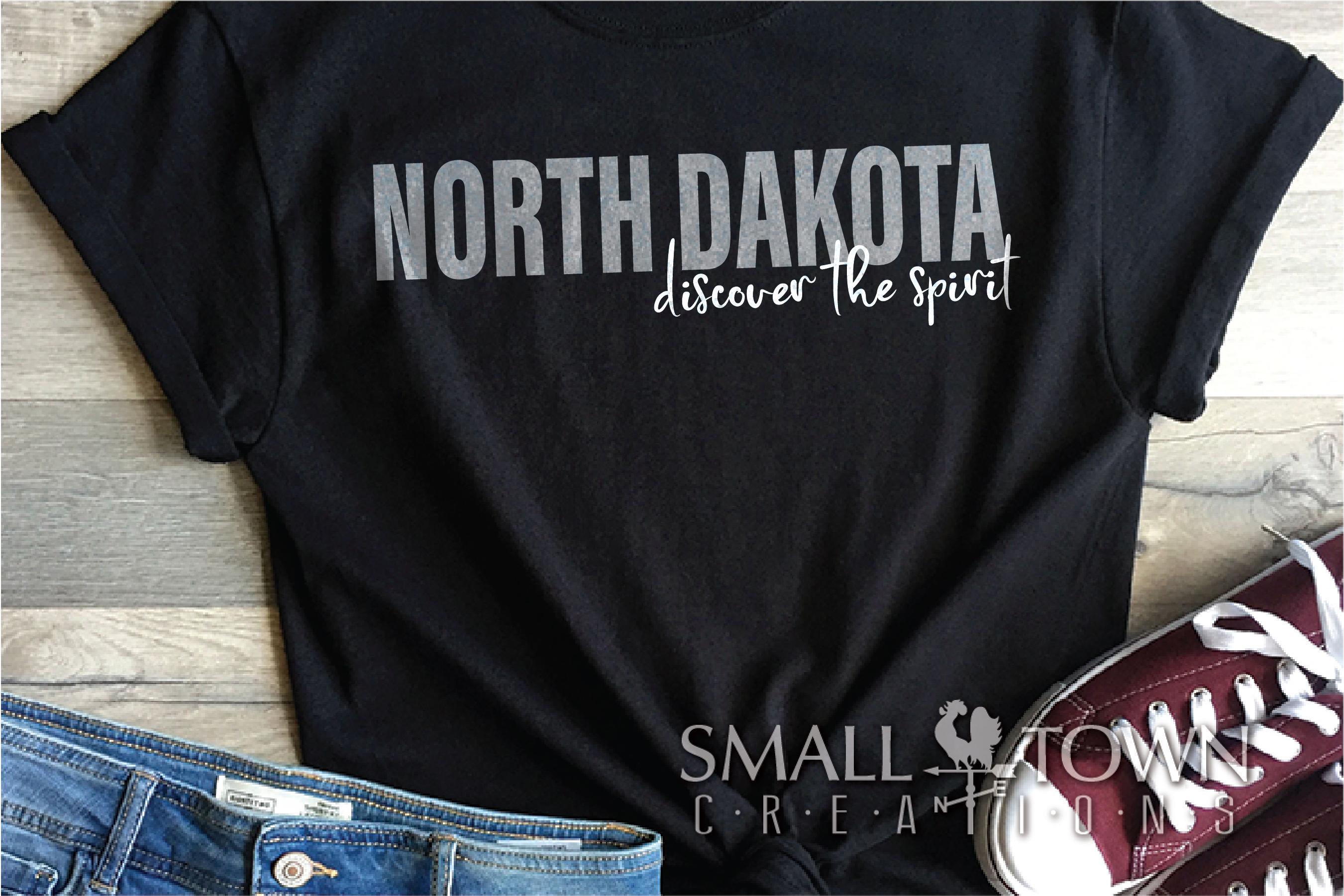 North Dakota, Discover the Spirit, logo, PRINT, CUT & DESIGN example image 4