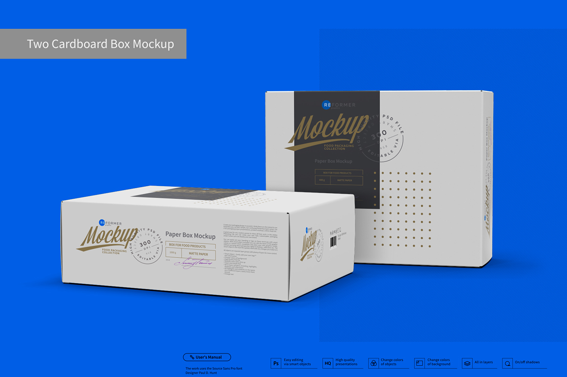 Two Cardboard Box Mockup example image 3