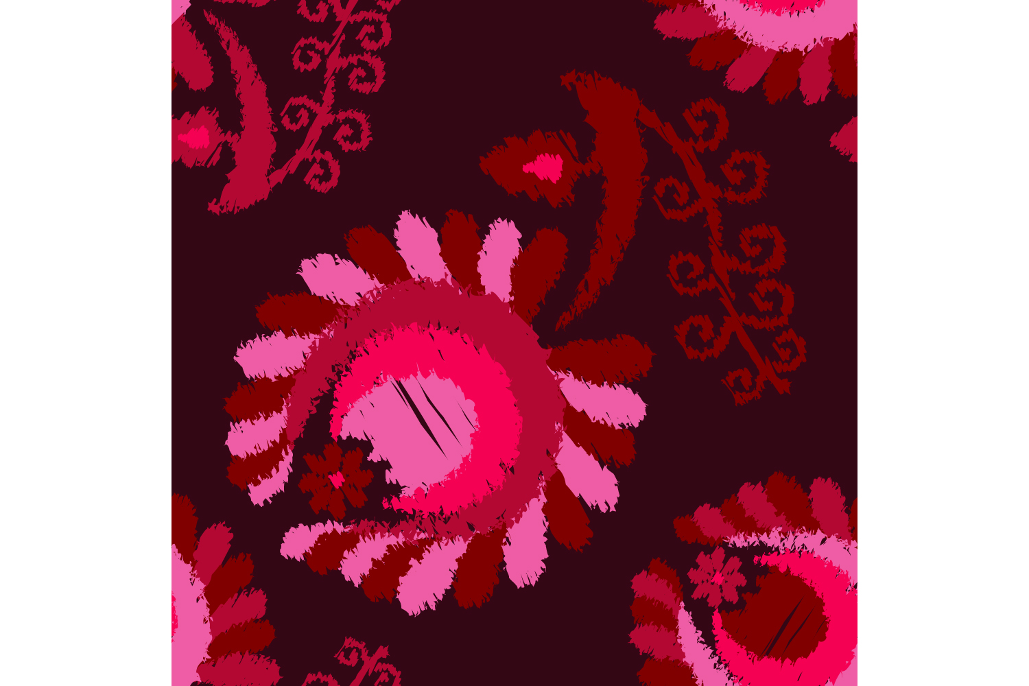 Decorative flowers. Set of 10 seamless patterns. example image 1
