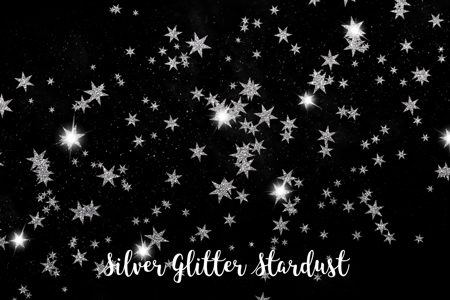 Silver Glitter Stardust, Transparent PNG example image 5