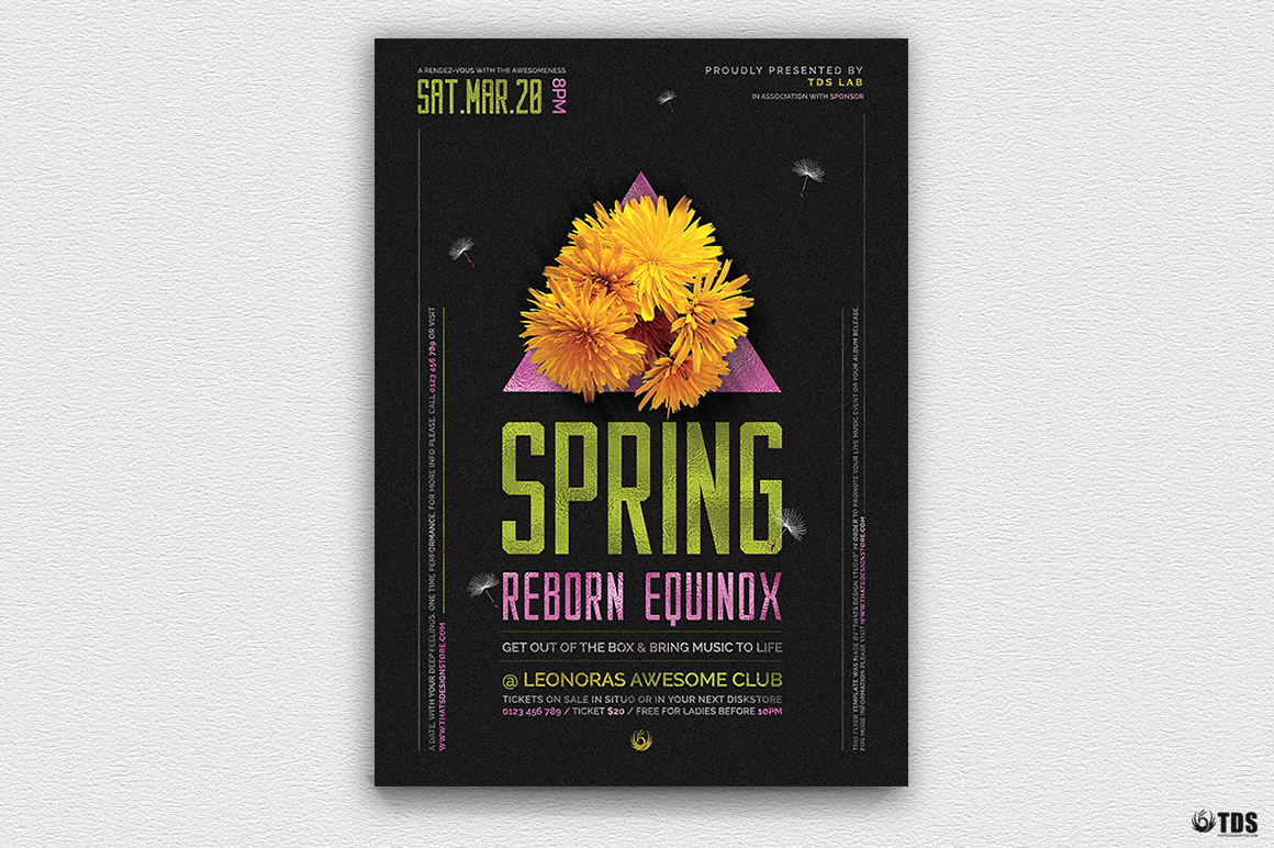 Spring Equinox Flyer Template V6 example image 2