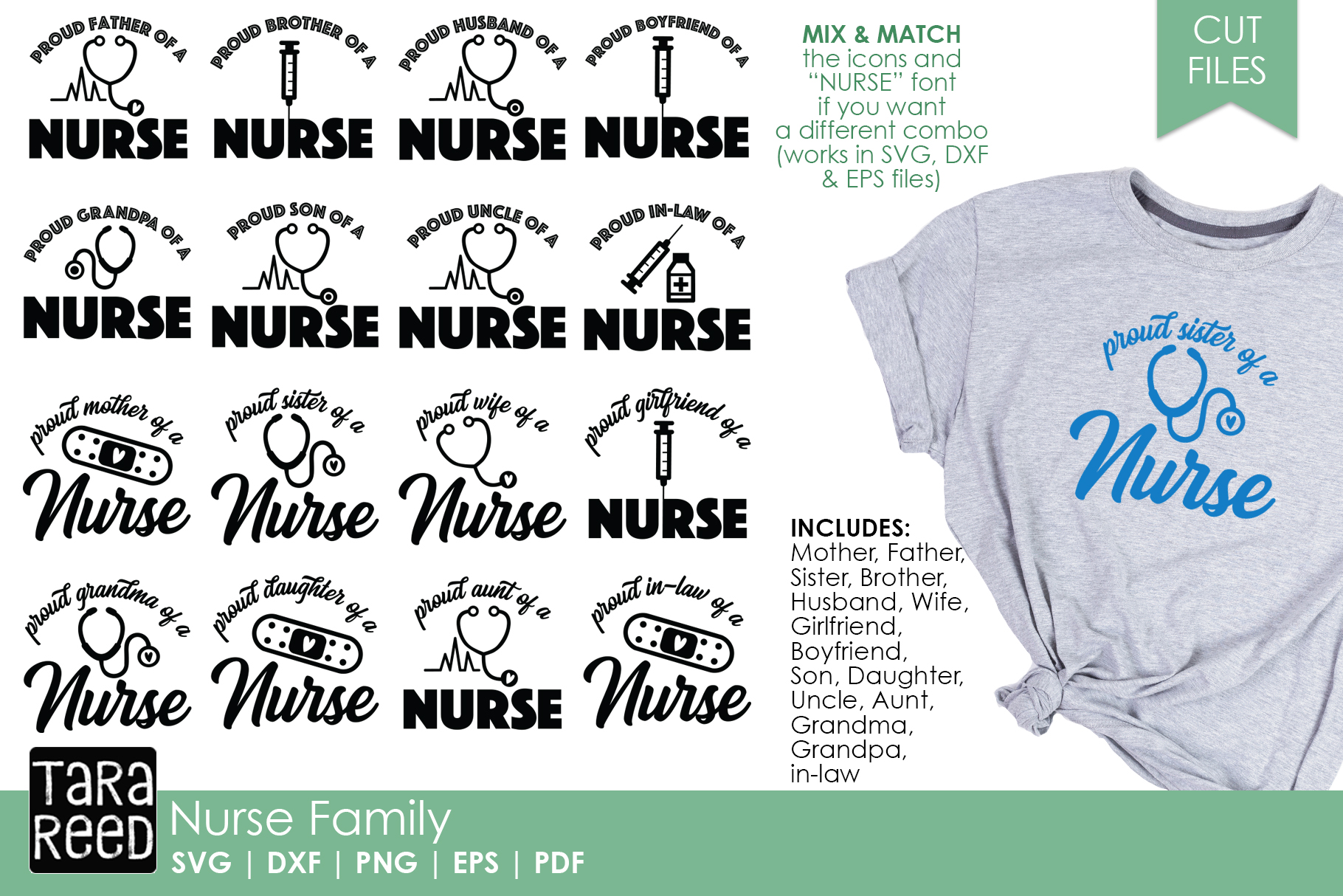 Nurse Family - Nurse SVG and Cut Files for Crafters example image 1