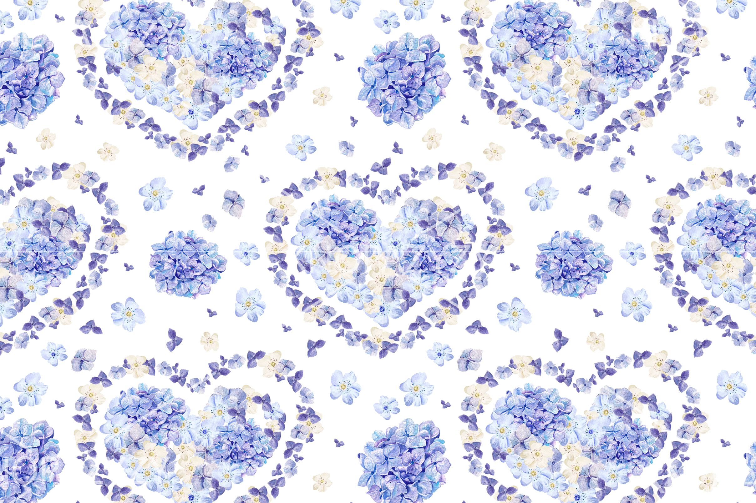 15 Hand Drawn Watercolor PATTERNS example image 11