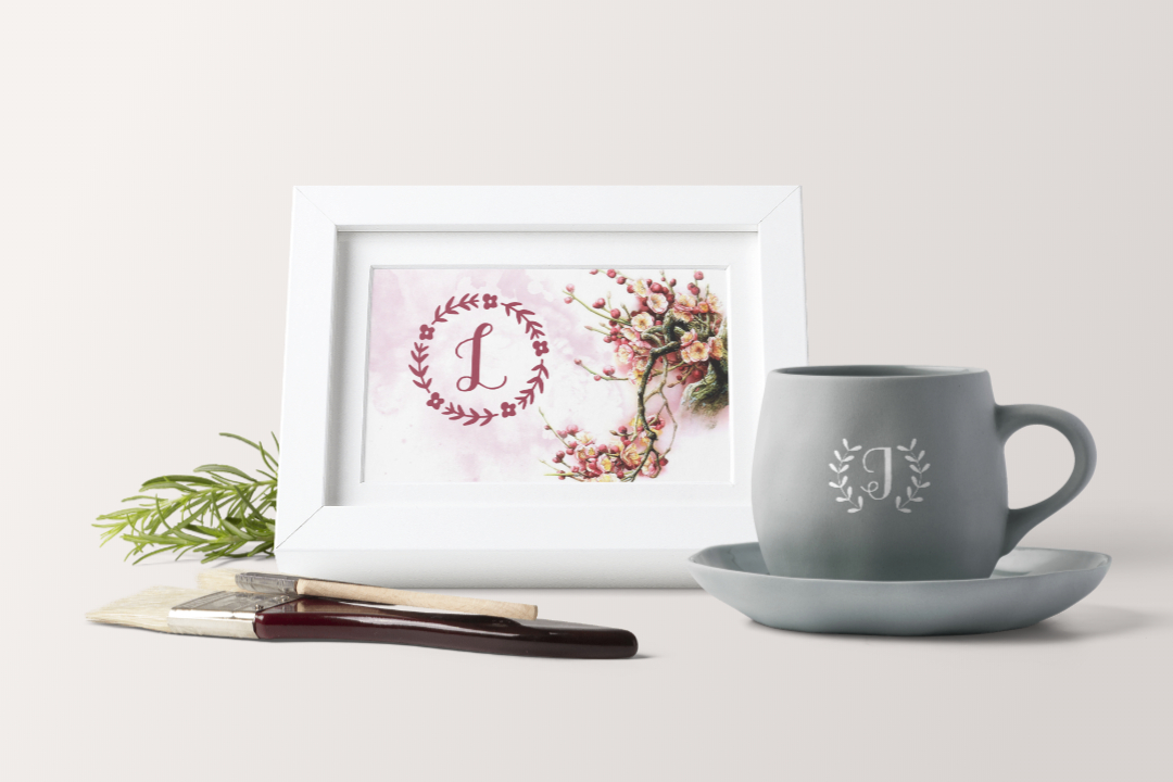 Sweet Monogram Floral example image 2