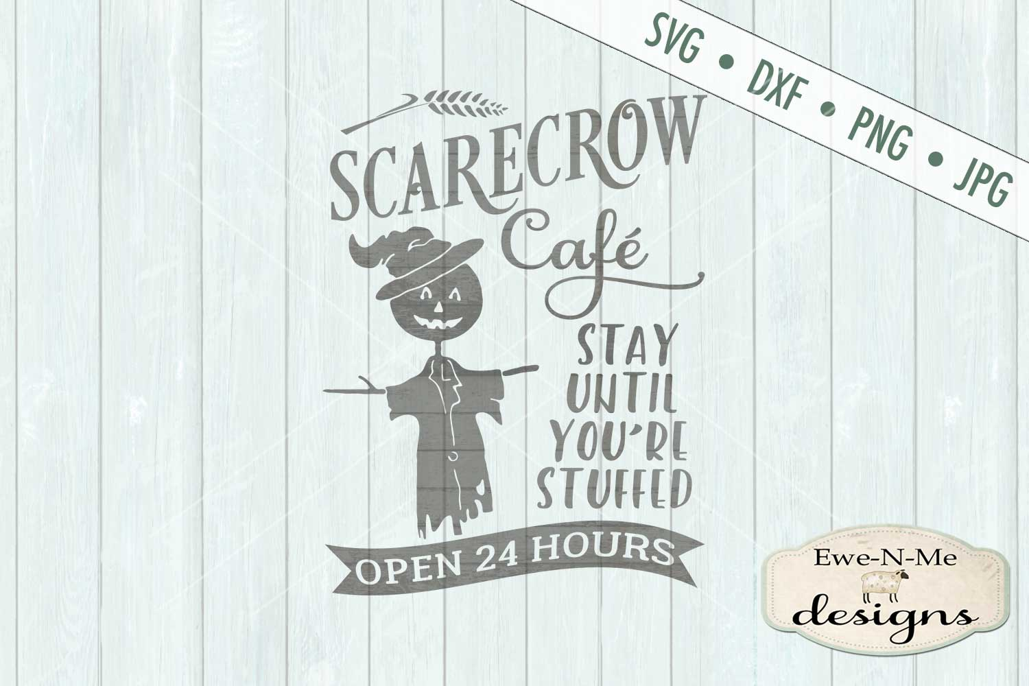 Scarecrow Cafe SVG DXF Files example image 2