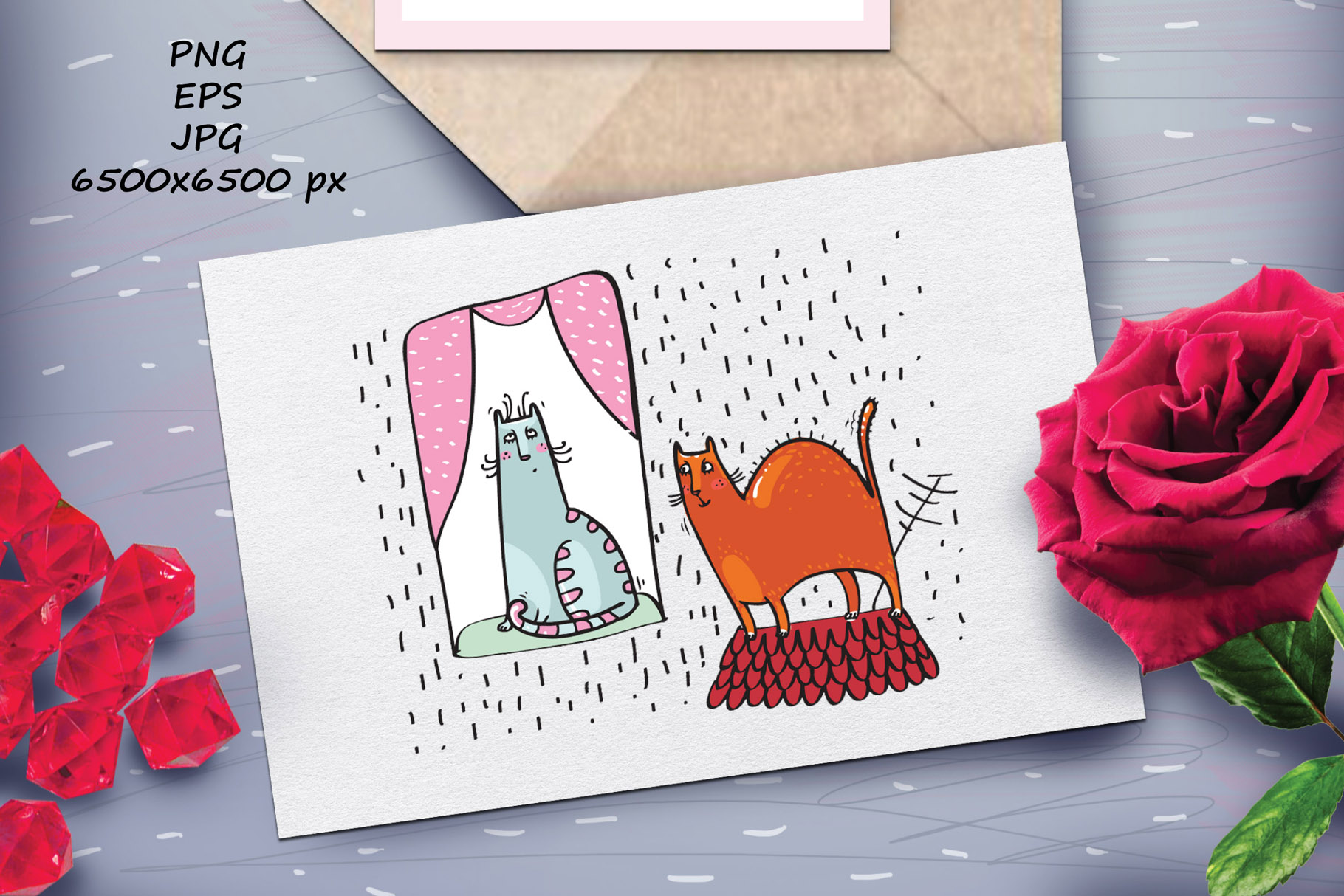 Saint Valentine's Cats - patterns, frames example image 10