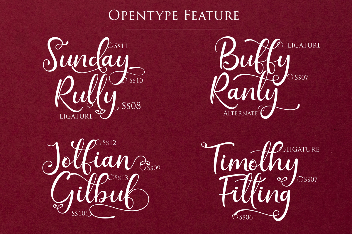 Sunday Rully | A Modern Script Calligraphy example image 5