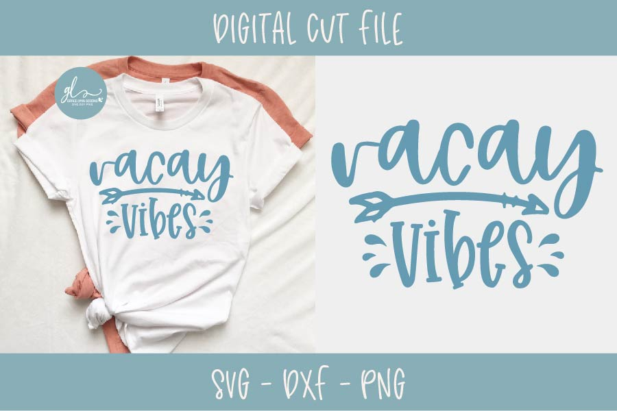 Vacay Vibes - Summer SVG Cut File example image 1