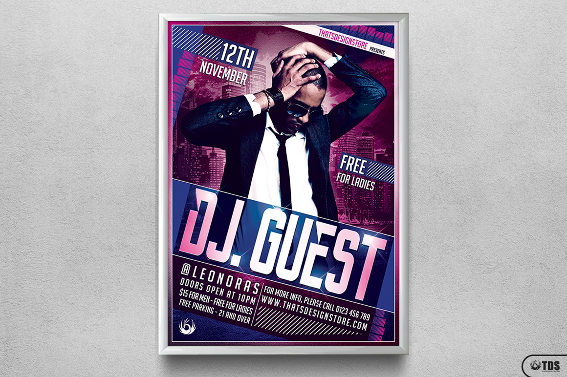 DJ Guest Flyer Template V1 example image 6