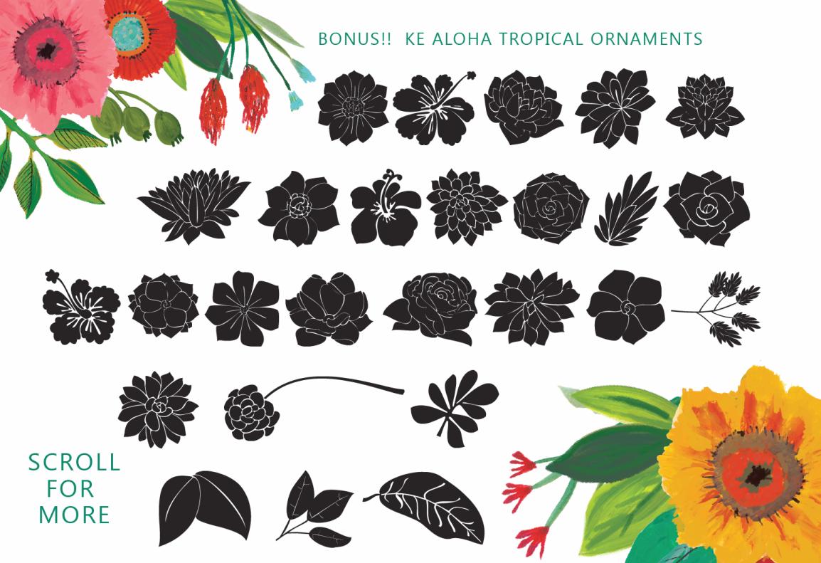 Ke Aloha Script + Tropical Bonus example image 3