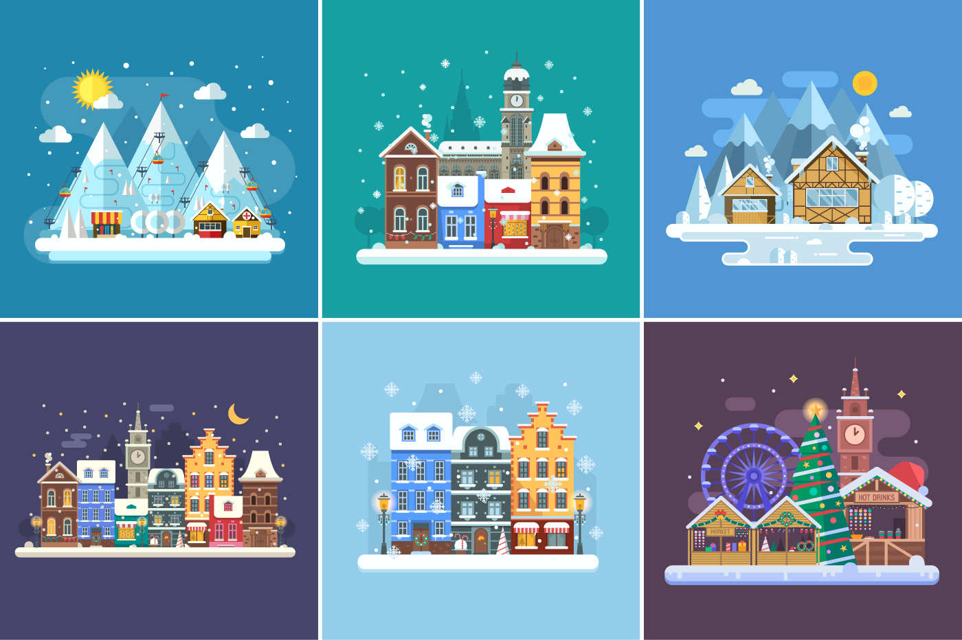 Winter Backgrounds and Landscapes example image 9