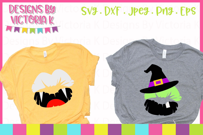 Halloween Lips SVG Cut Files example image 2
