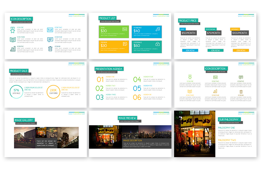 Peppy Powerpoint Template example image 4