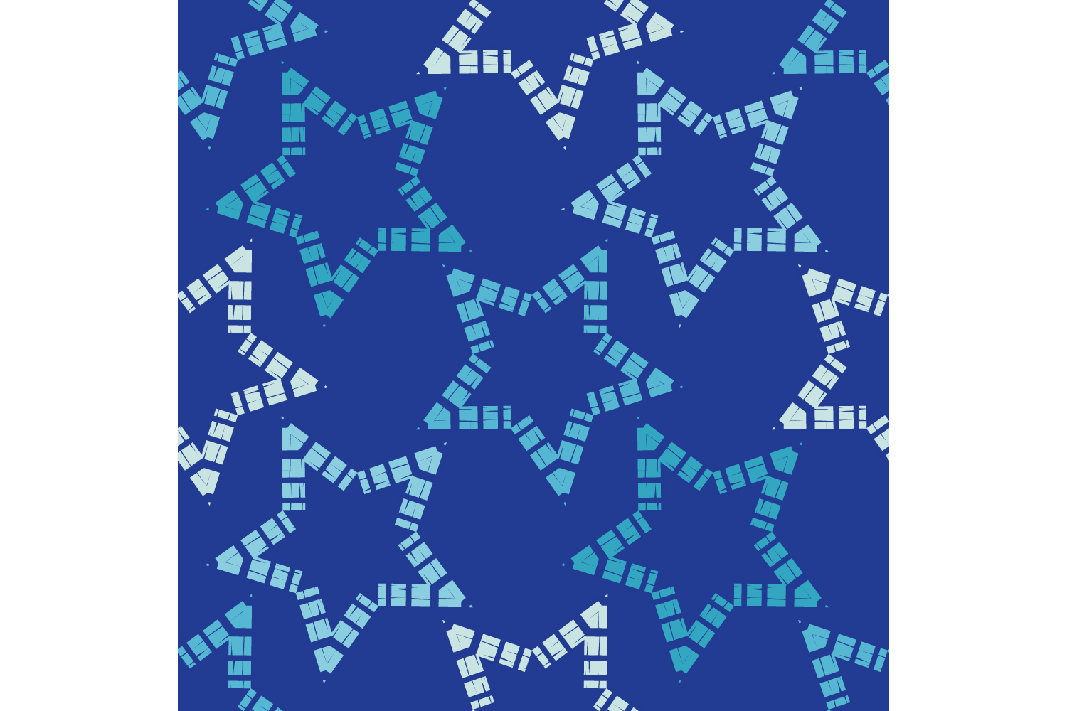 Ornament with Stars. Set of 10 seamless patterns. example image 8