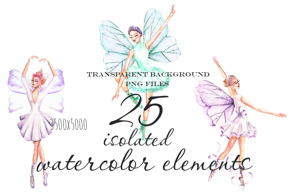 Ballet watercolor clip art example image 4