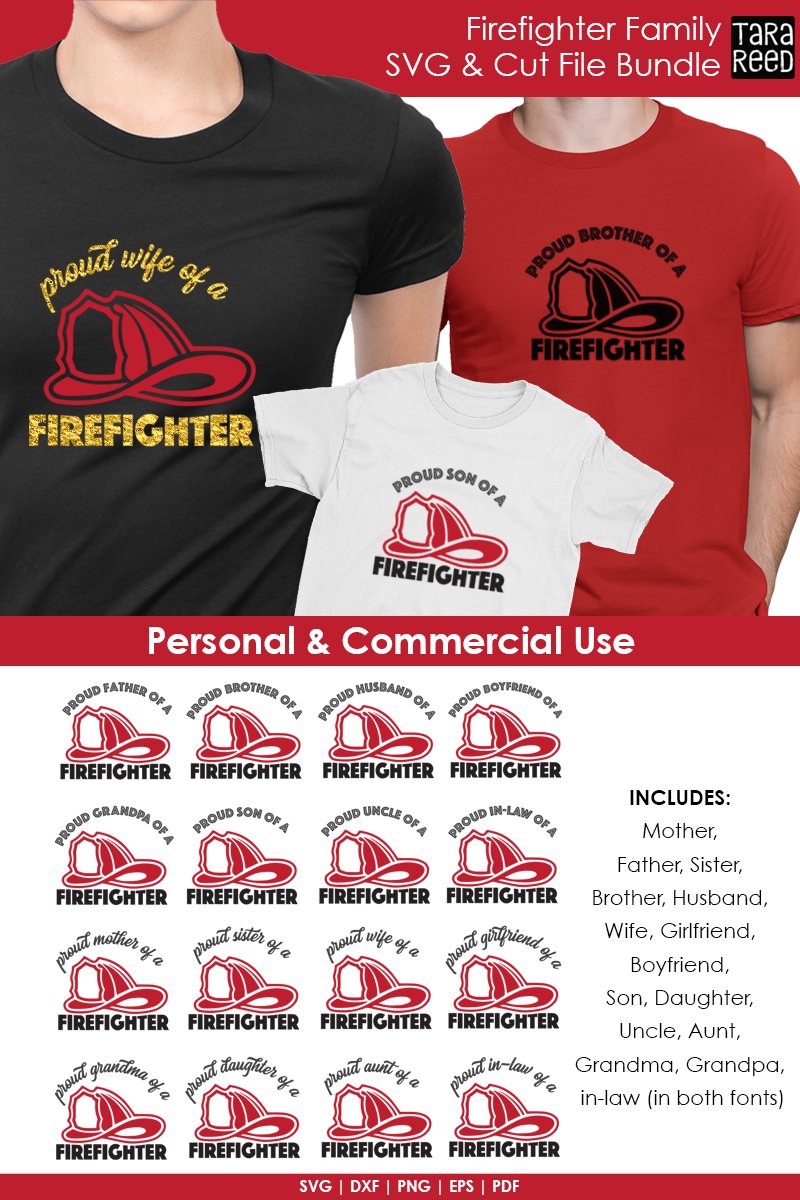 Firefighter Family - Firefighter SVG and Cut Files example image 3