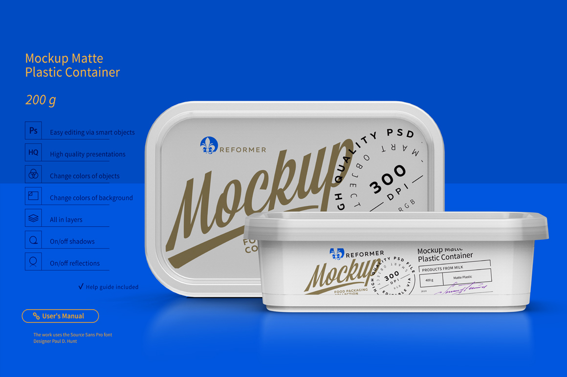 Plastic Container Mockup 200g example image 1