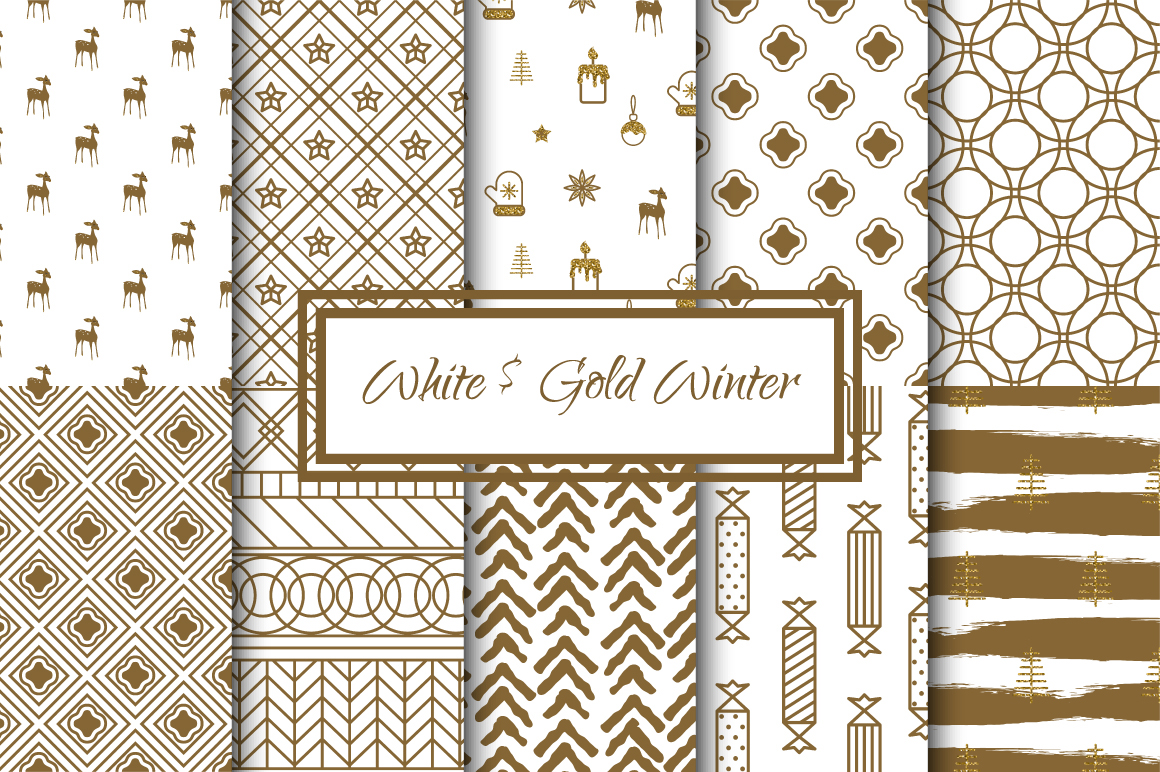 White and Gold Winter example image 1