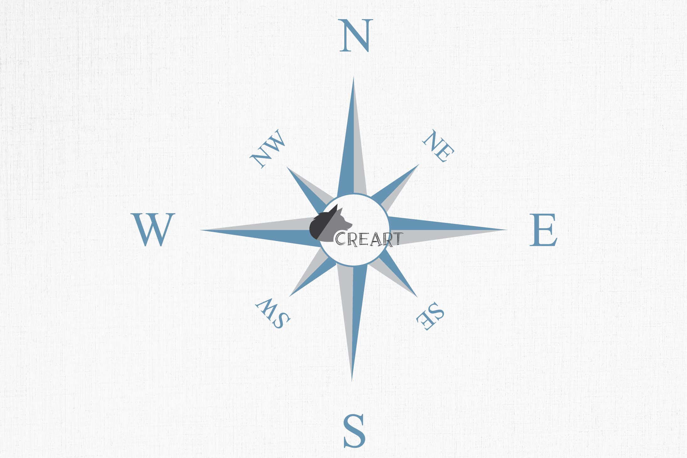Compass rose navigation silhouette. Travellers decoration. example image 8