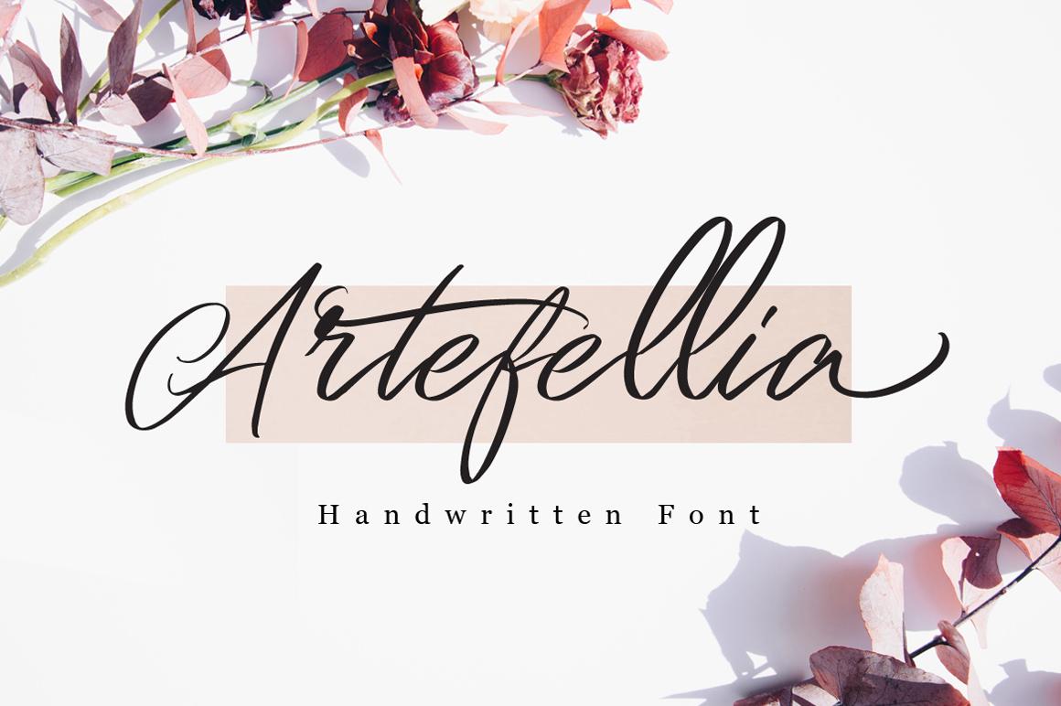 Artefellia - Handwritten Font example image 1