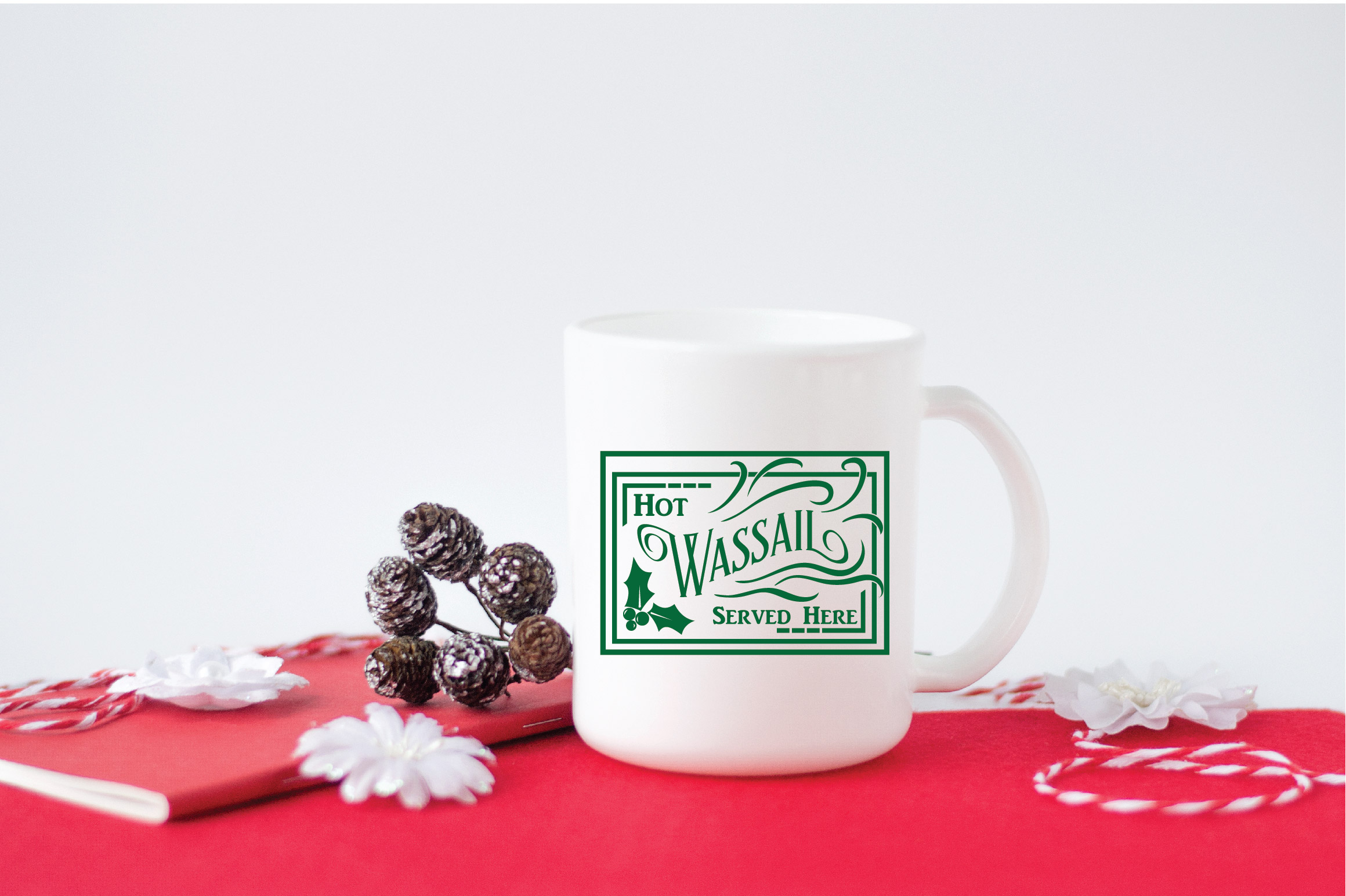 Christmas SVG Cut File - Hot Wassail SVG DXF PNG EPS JPG example image 3