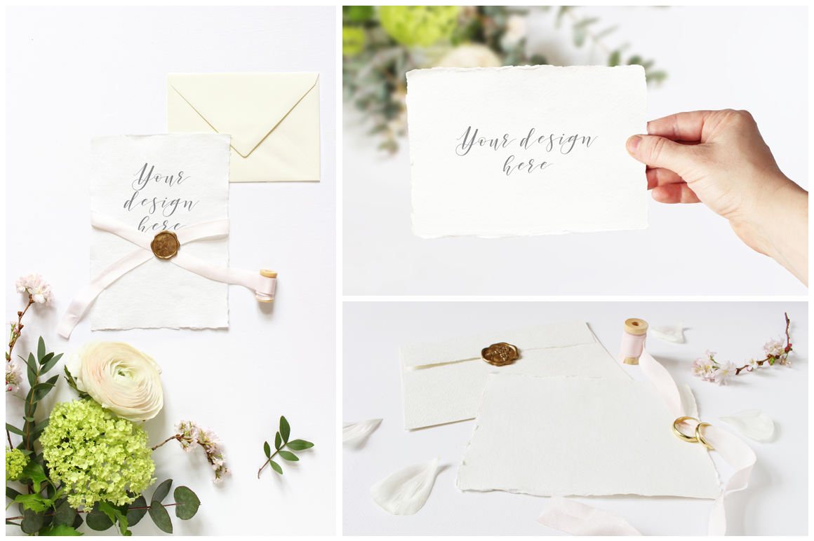 Spring Wedding mockups  & stock photo bundle example image 5