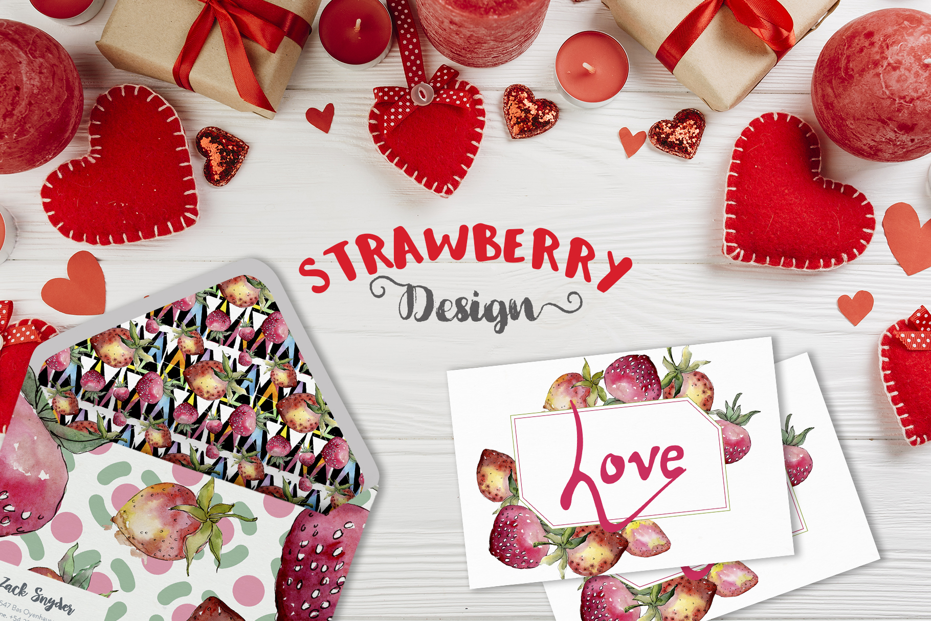 Strawberry Watercolor png example image 2