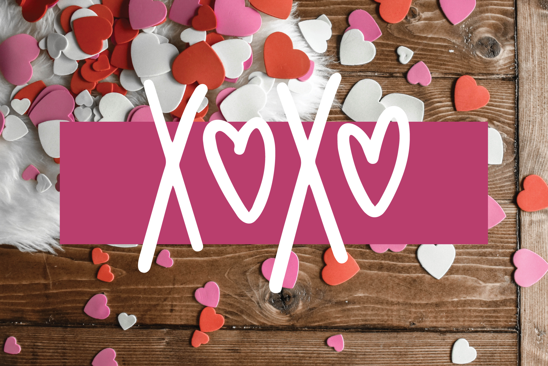 Love Struck, Thick Valentine's Heart Font example image 2
