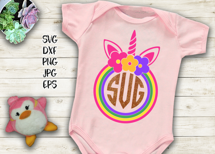 Unicorn face horn girl bundle svg dxf cutting files clipart example image 11