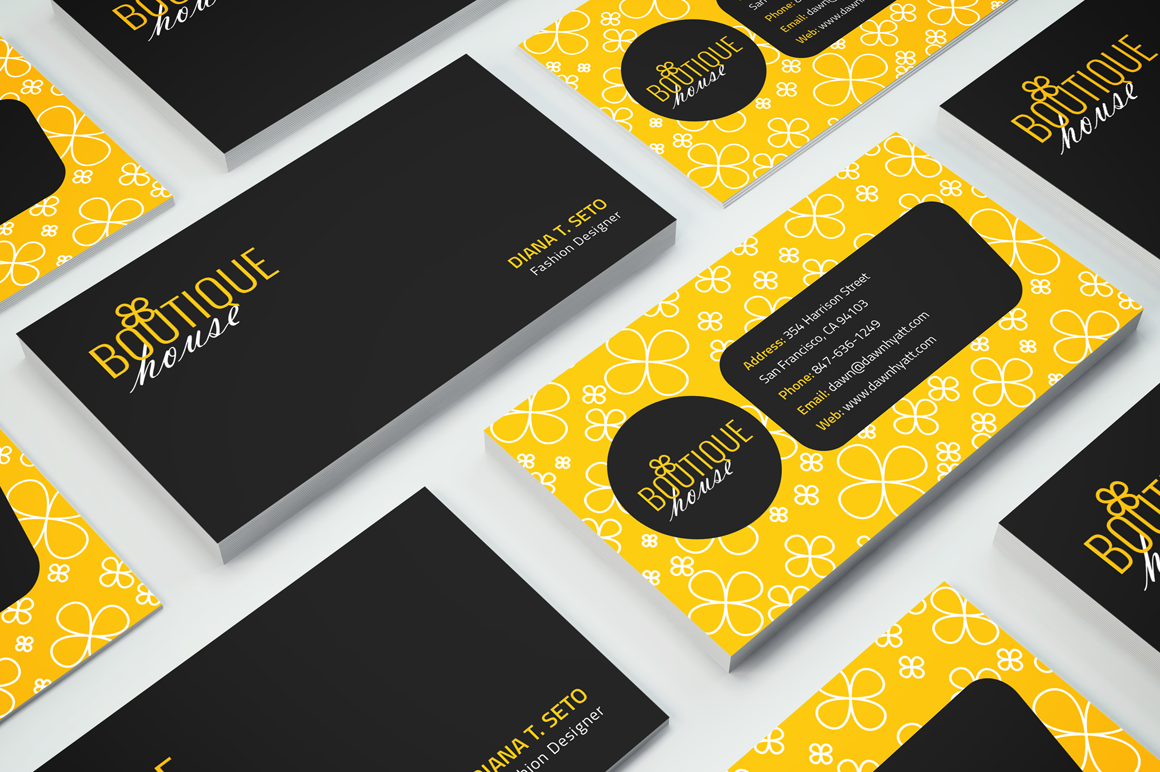 Boutique House Business Card example image 2