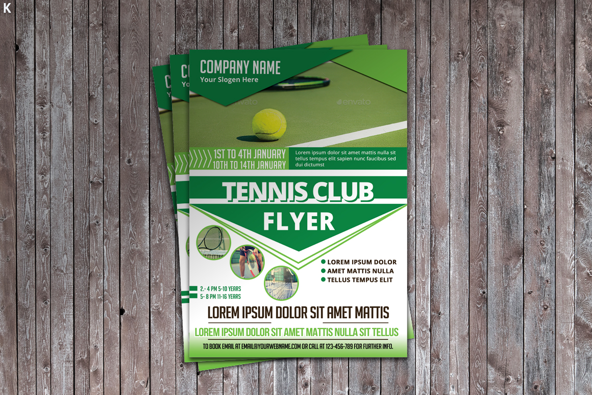 Tennis Flyer Template example image 2