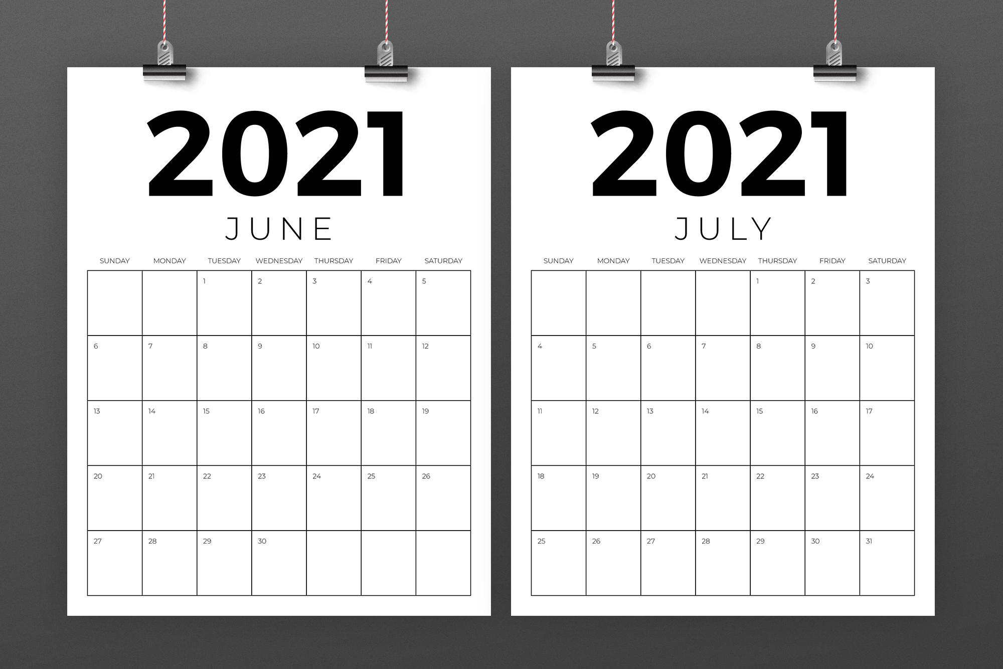 Vertical 8.5 x 11 Inch 2021 Calendar example image 4