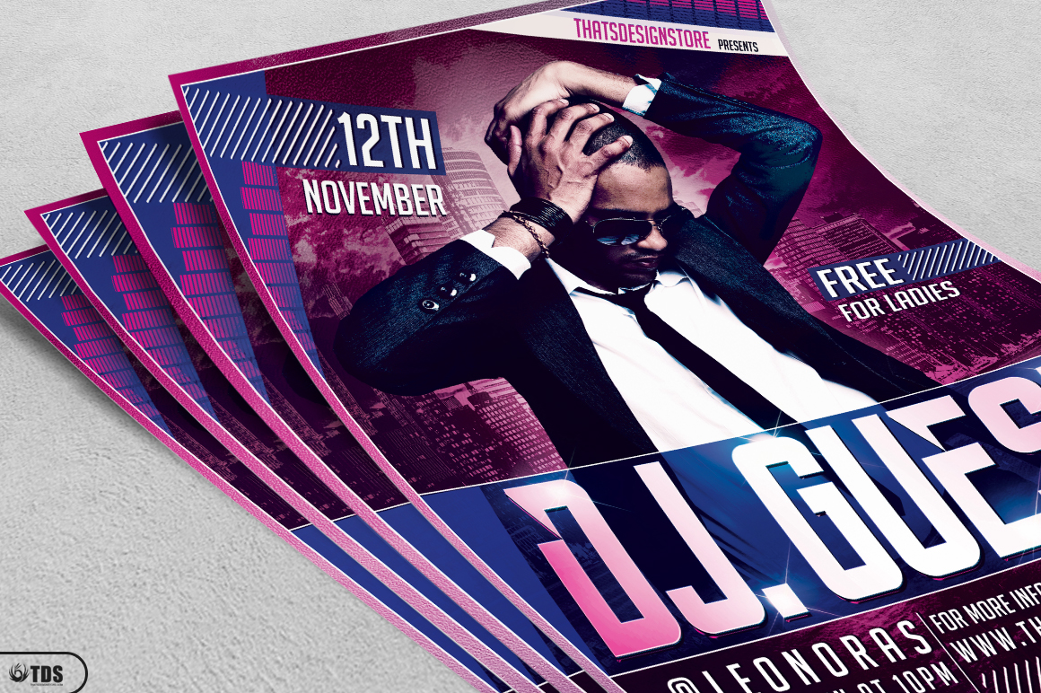 DJ Guest Flyer Template V1 example image 3