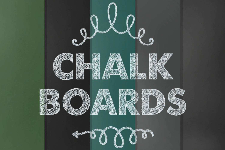 Chalkboard Digital Paper Set example image 1