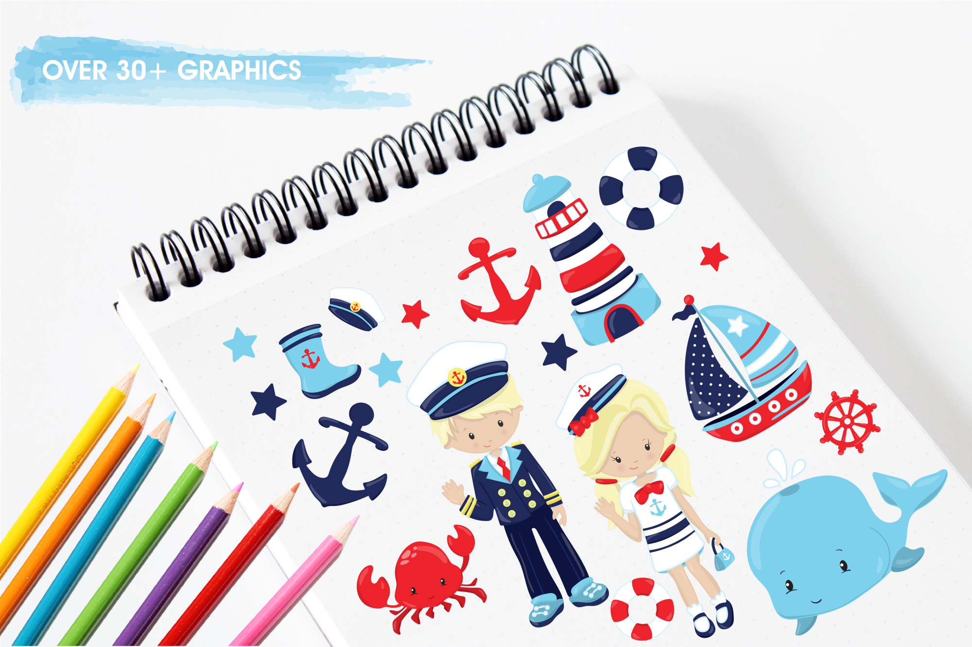 Nautical graphics and illustrations example image 3